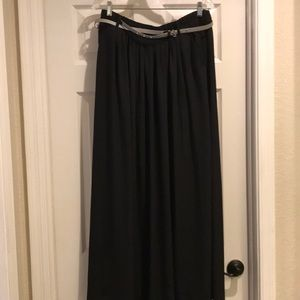 Philosophy Black Long Lined Skirt Size XL